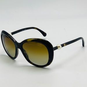 New! CHANEL 5302-H Havana Polarized Sunglasses